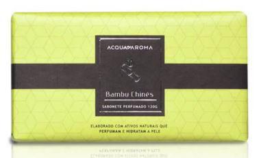 2 Sabonetes Perfumados em Barra 120g Bambu Chinês Acqua Aroma