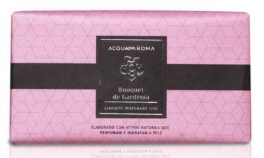 2 Sabonetes Perfumados em Barra 120g Bouquet de Gardênia Acqua Aroma