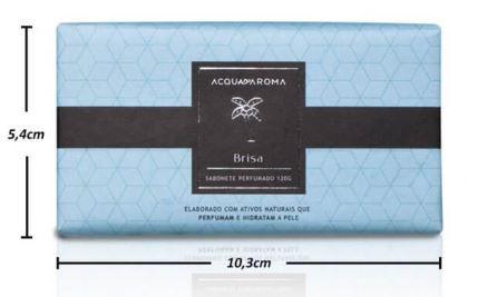 2 Sabonetes Perfumados em Barra 120g Brisa Acqua Aroma
