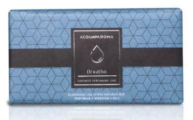 2 Sabonetes Perfumados em Barra 120g Orvalho Acqua Aroma