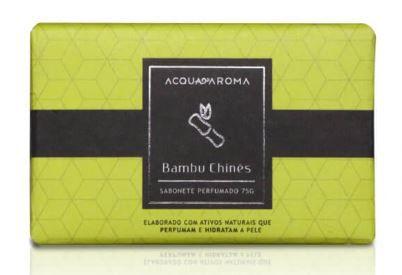 2 Sabonetes Perfumados em Barra 75g Bambu Chinês Acqua Aroma