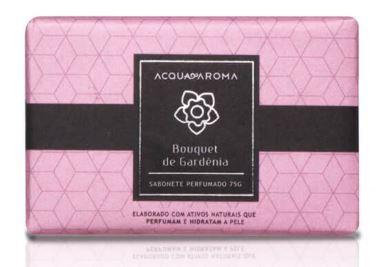 2 Sabonetes Perfumados em Barra 75g Bouquet de Gardênia Acqua Aroma