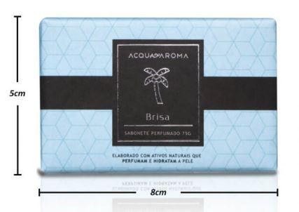2 Sabonetes Perfumados em Barra 75g Brisa Acqua Aroma