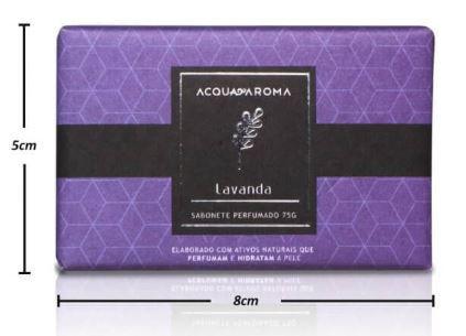 2 Sabonetes Perfumados em Barra 75g Lavanda Acqua Aroma