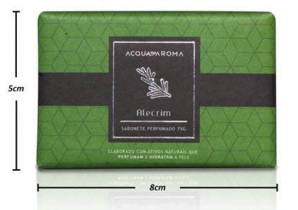 2 Sabonetes Perfumados em Barra 75g Alecrim Acqua Aroma