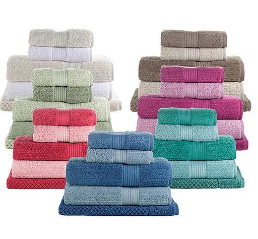 Jogo de toalha de banho Fio Penteado Canelado 5 peças Buddemyer