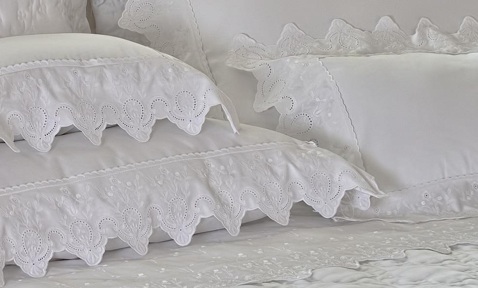 Fronha Avila 50cm x 90cm Branco 400 fios Artelassê