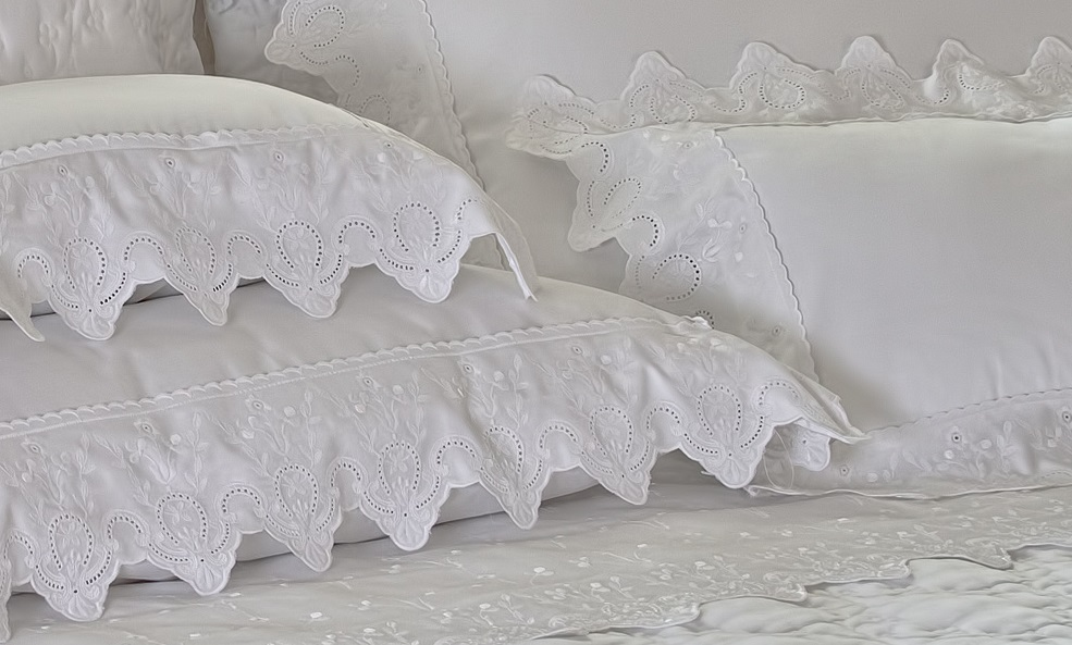 Fronha Ávila 50cm x 90cm Branco 400 fios Artelassê