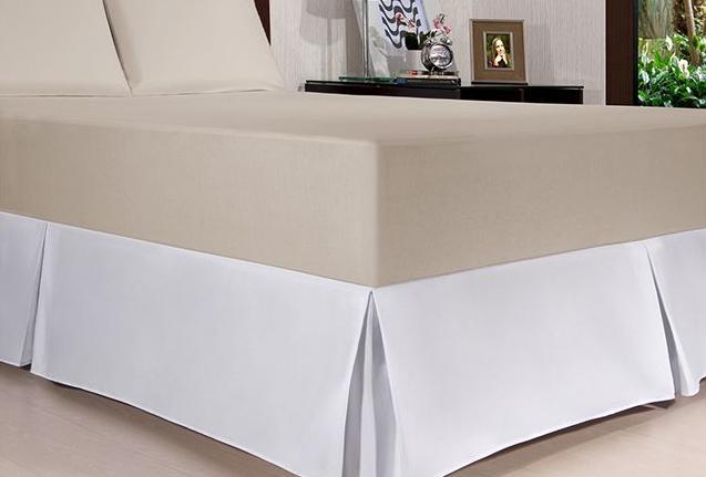 Saia Box Solteiro Plus com pregas Kacyumara