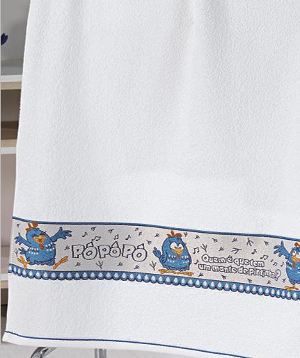 Toalha de Banho Felpudo Jacquard Estampa Licenciada Galinha Pintadinha - Dohler