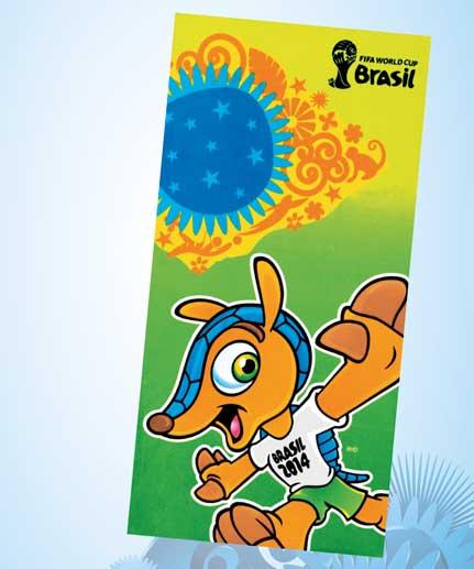 Toalha de Praia Velour Copa Brasil 2 - Dohler