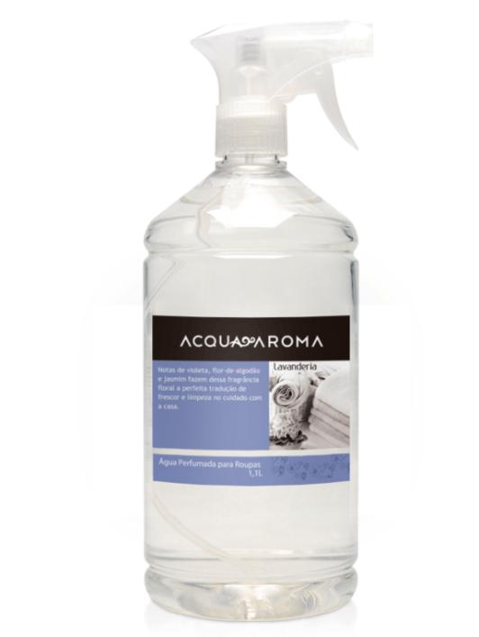 Água Perfumada p/ Roupas Acqua Aroma 1,1L Lavanderia