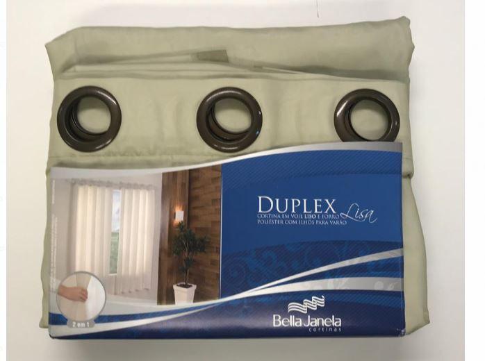 Cortina Duplex 2,00 x 2,30 Lisa Bella Janela
