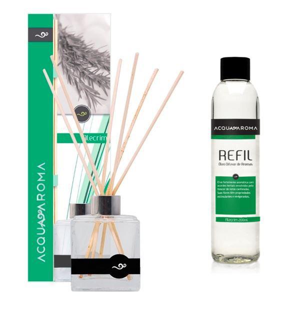 Difusor de Aromas e Refil Acqua Aroma Alecrim