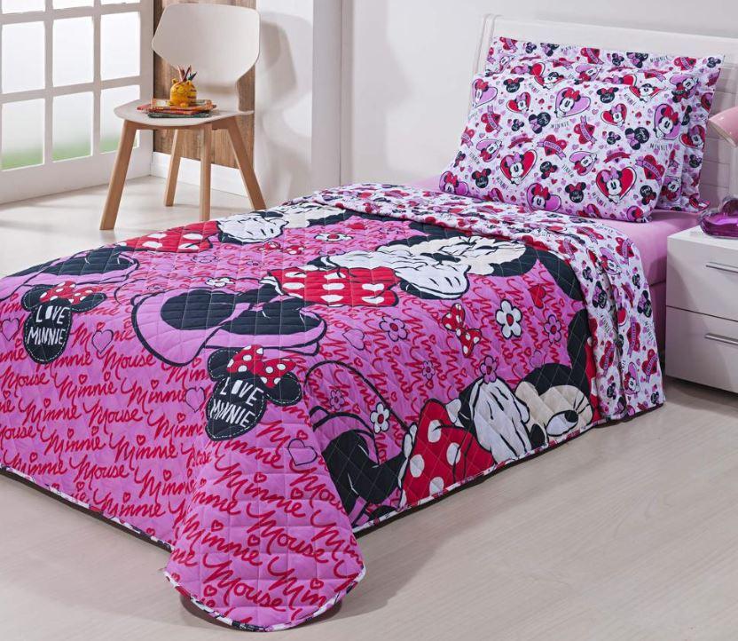 Edredom Solteiro Infantil Minnie Disney Andreza