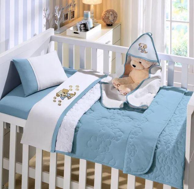 Jogo de Berço 3 Peças Baby Malha Buettner