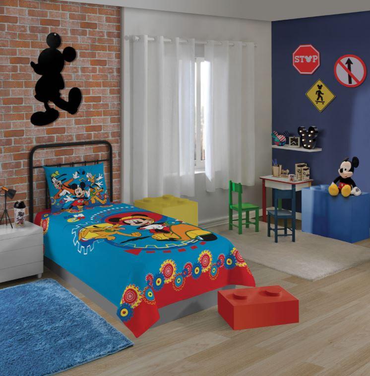 Jogo de Cama Infantil 2 Peças Mickey Lepper