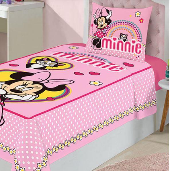 Jogo de Cama Infantil 2 Peças Minnie Lepper