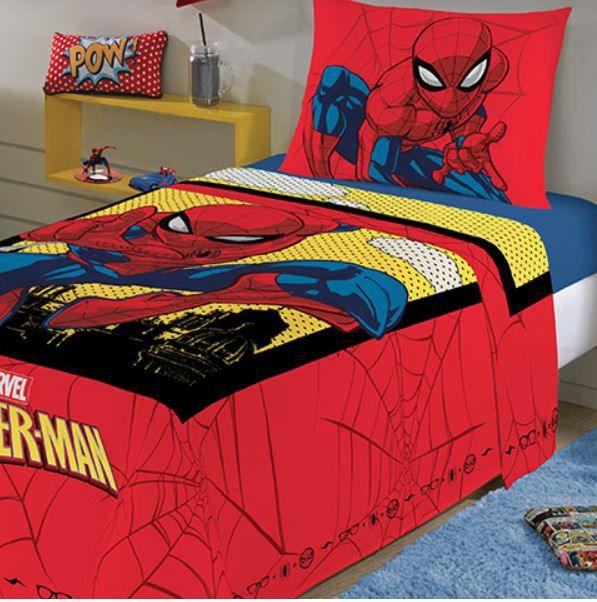 Jogo de Cama Infantil 2 Peças Spider Man Lepper