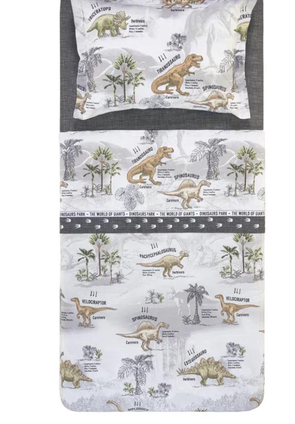 Jogo de Cama Solteiro Infantil Dinossauro 180 Fios Karsten