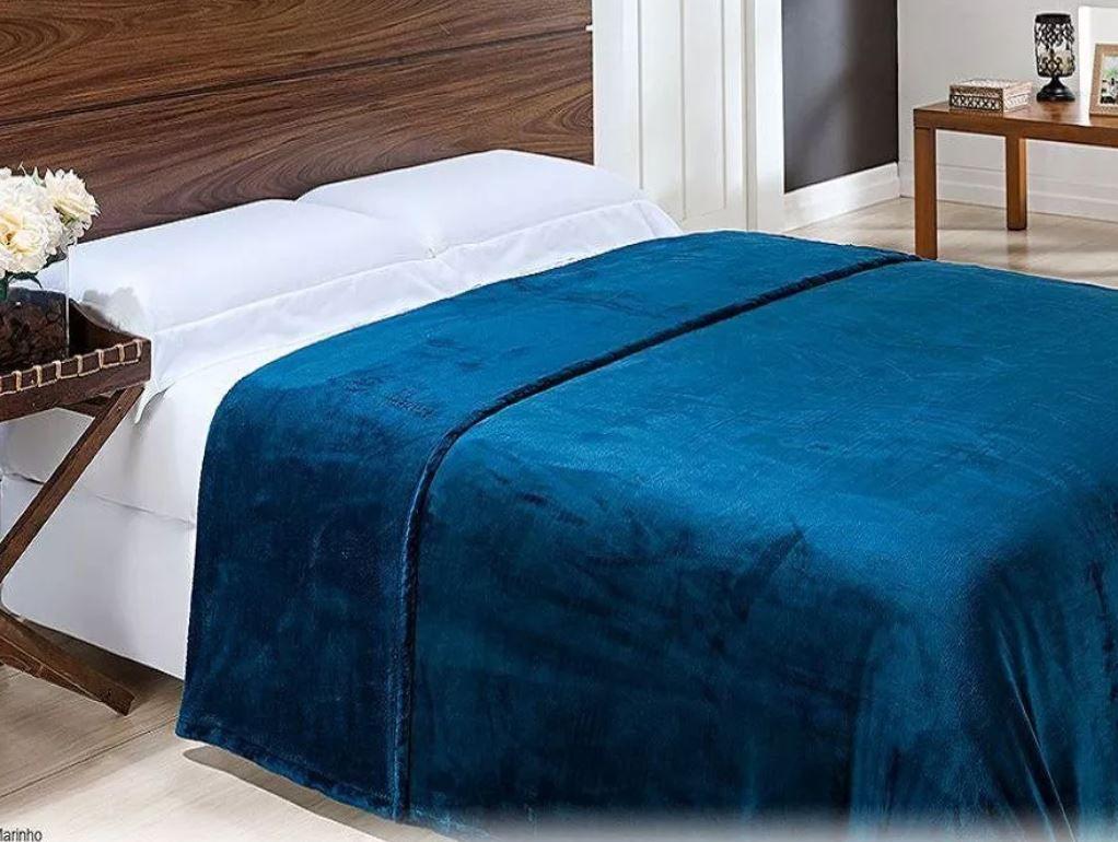 Kit 2 Cobertores King de Micro Fibra com Toque de Seda Niazitex