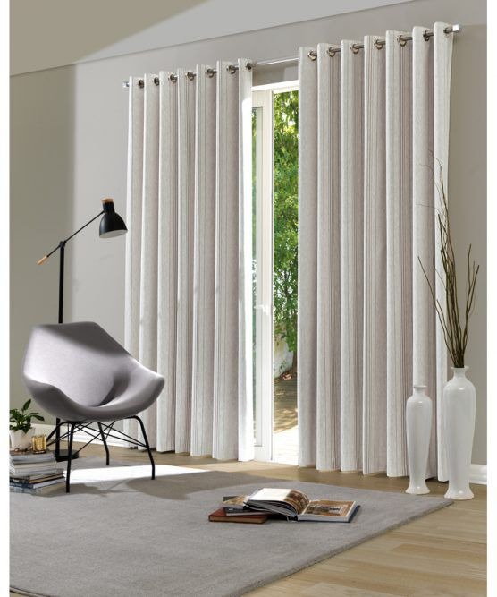 Kit 2 Cortinas Blackout 2,00 x 1,80 Amanda Natural Dohler