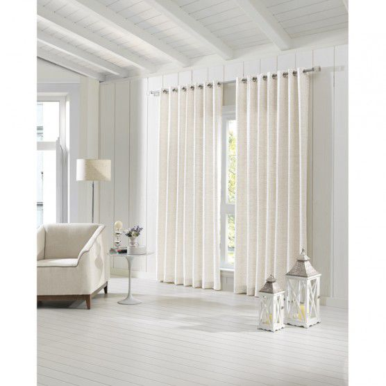 Kit 2 Cortinas Jacquard 2,00 x 2,30 Messina Natural Dohler