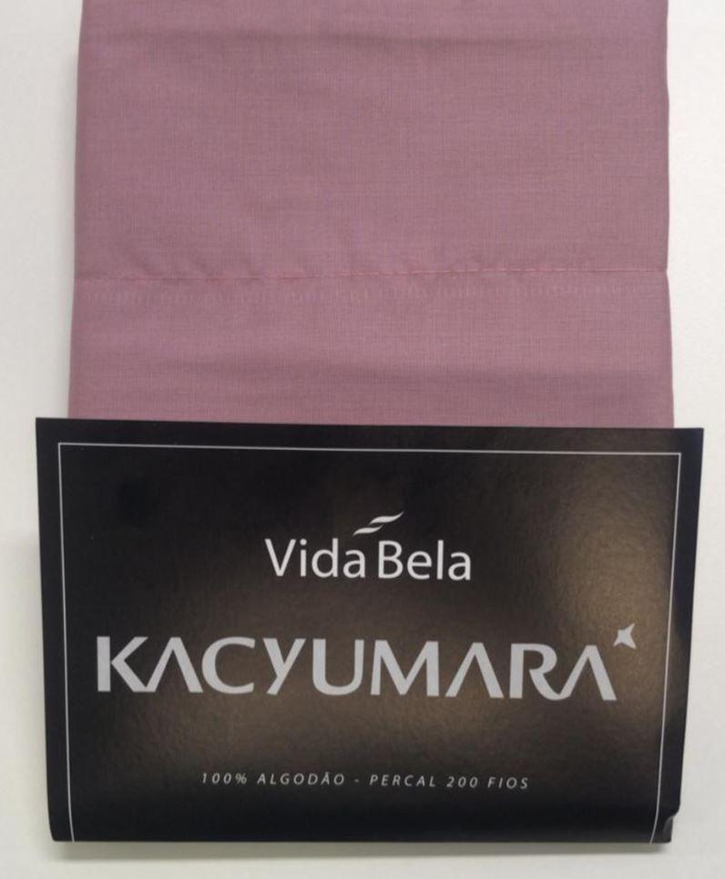 Kit 2 Fronhas Vida Bela 200 Fios 50cm x 70cm Rose German Kacyumara