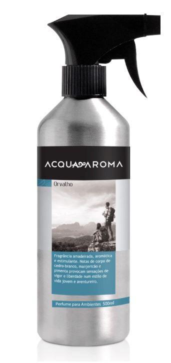 Kit 2 Perfumes Ambiente Acqua Aroma Orvalho 500 ml