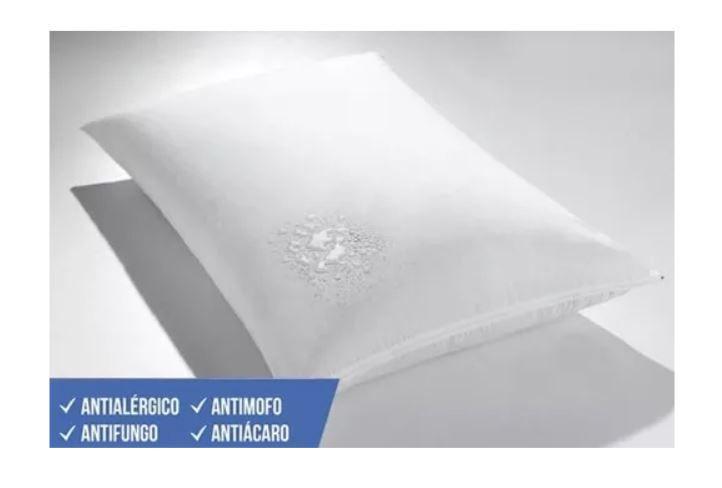 Kit 2 Protetores de Travesseiro Impermeável 50cm x 70cm Kacyumara