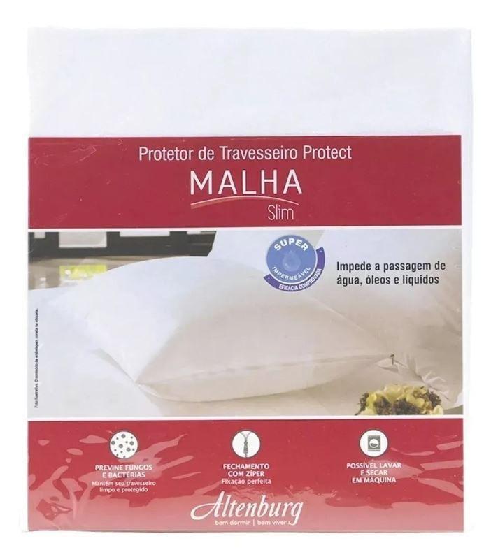 Kit 2 Protetores de Travesseiro Protect Malha Slim 50 x 90cm Altenburg