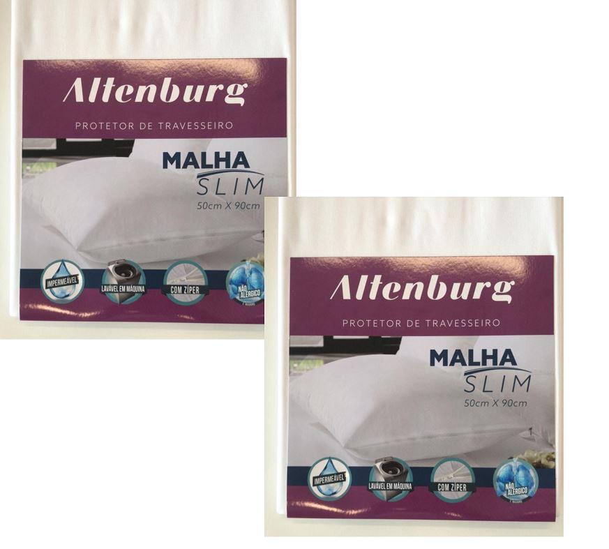 Kit 2 Protetores de Travesseiro Protect Malha Slim 50x90 Altenburg