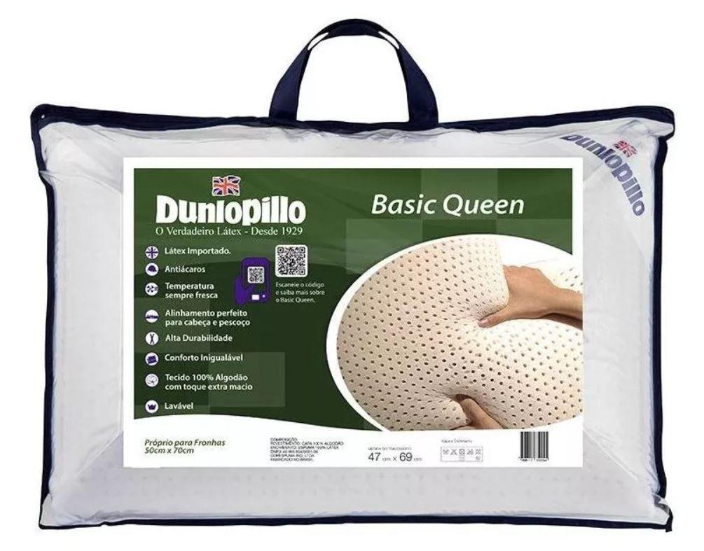 Kit 2 Travesseiros Basic Queen Dunlopillo