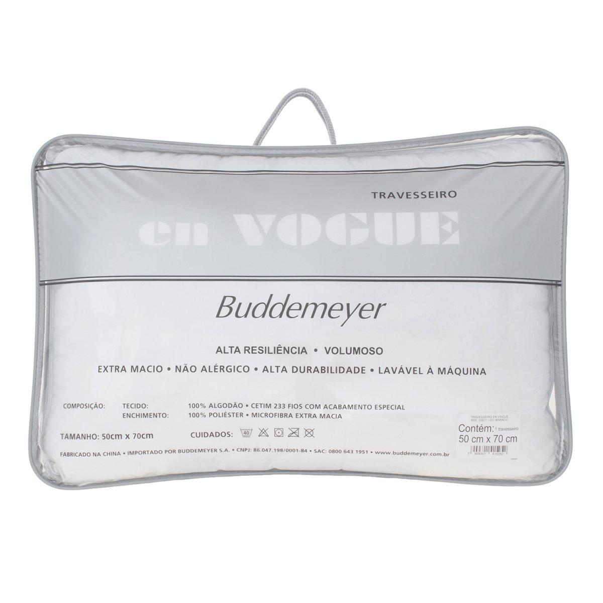 Kit 2 Travesseiros En Vogue Cetim 233 Fios Buddemeyer