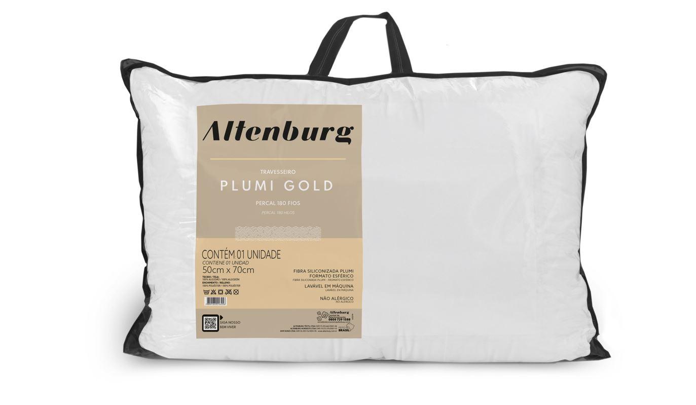 Kit 2 Travesseiros Plumi Gold Altenburg
