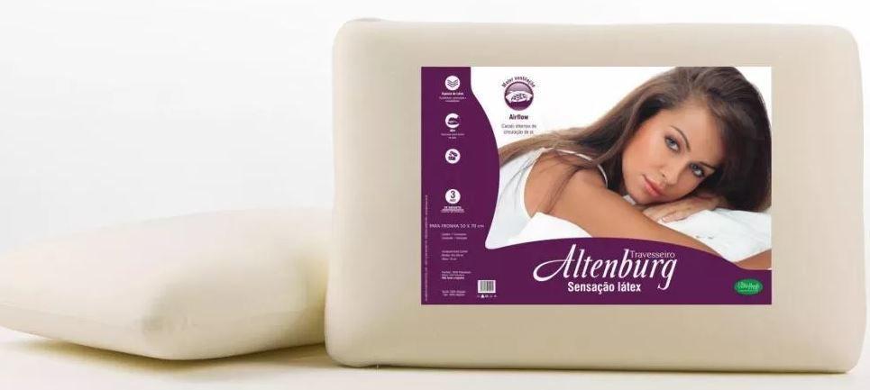Kit 2 Travesseiros Sensação Látex Altenburg