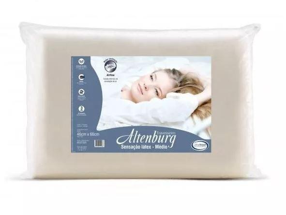 Kit 2 Travesseiros Sensação Látex Médio Altenburg