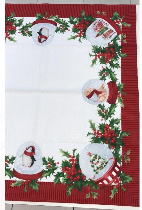 Kit 3 Toalhas de Mesa Quadrada 78 x 78 Clima de Natal Karsten