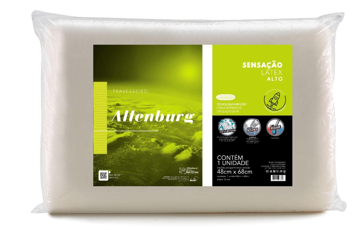 Kit 3 Travesseiros Sensação Látex Ultrafresh Altenburg