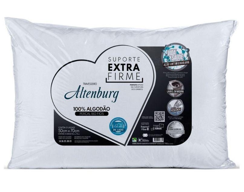 Kit 3 Travesseiros Suporte Extra Firme Altenburg