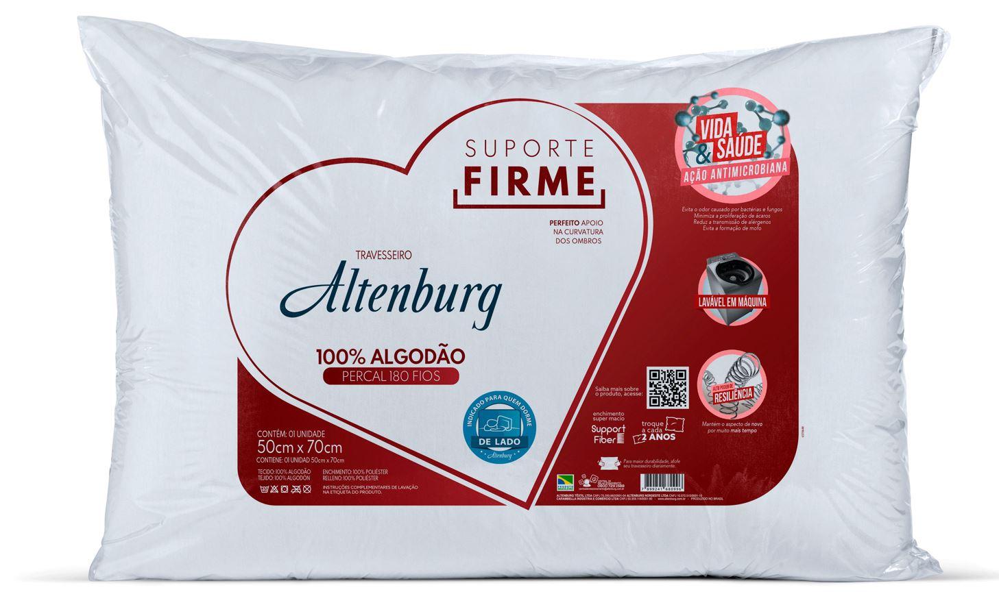 Kit 5 Travesseiros Suporte Firme Altenburg