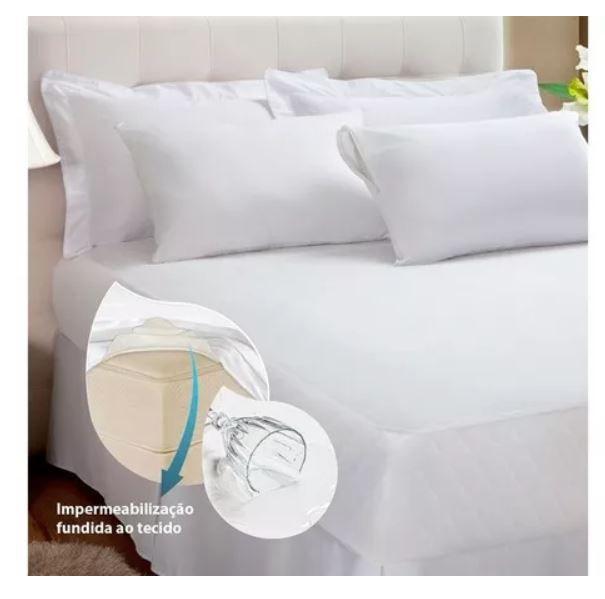 Kit Protetor de Colchão +2 Protetores Travesseiro Impermeável Queen Kacyumara