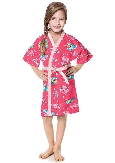 Roupão Aveludado Infantil Barbie Lepper