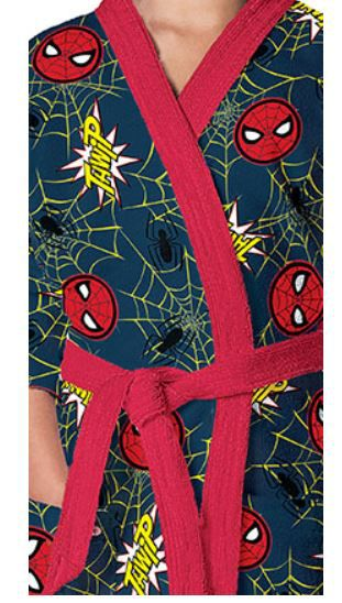 Roupão Aveludado Infantil Spider Man Lepper