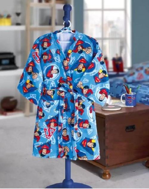 Roupão Infantil Velour M Superman 18 Dohler