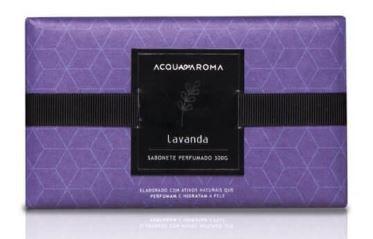 Sabonete Perfumado em Barra 300g Lavanda Acqua Aroma