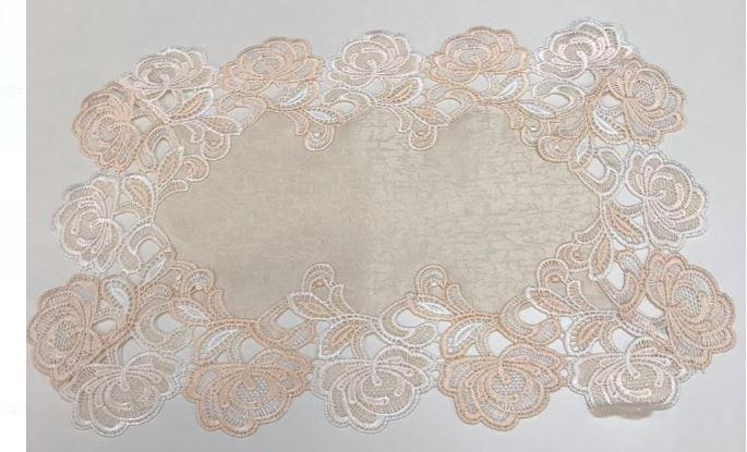 Toalha de Bandeja de Renda 30 x 45 cm Multi Trade