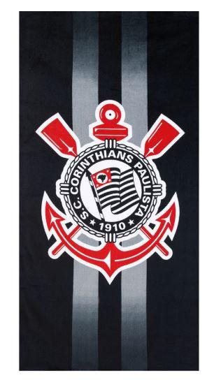 Toalha de Banho Aveludada Corinthians 09 Dohler