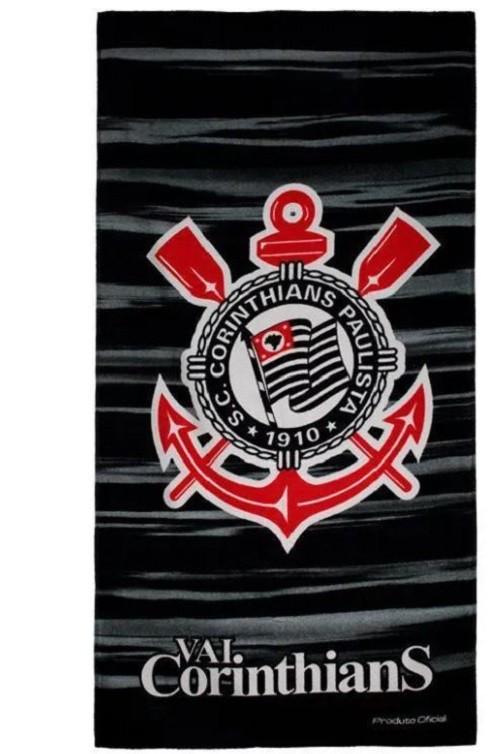 Toalha de Banho Aveludada Corinthians Buettner