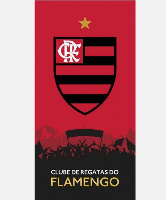 Toalha de Banho Aveludada Flamengo 12 Dohler